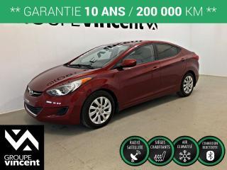 Used 2013 Hyundai Elantra GL ** GARANTIE 10 ANS ** Occasion à saisir, très bien entretenu et à bas kilométrage! for sale in Shawinigan, QC