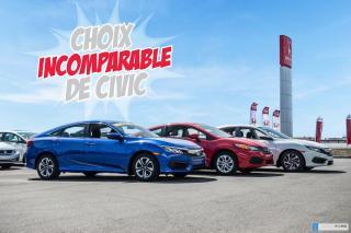 Used 2016 Honda Civic GARANTIE LALLIER MOTO-PROPULSEUR 10ANS/200,000 KIL PLUS DE 75 CIVIC UAGEES PRETES POUR LIVRAISON RAPIDE for sale in Terrebonne, QC