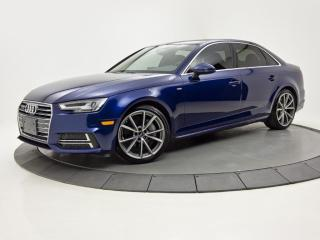 Used 2018 Audi A4 2.0 TFSI quattro S-LINE MAGS DE RS  CUIR NAV for sale in Brossard, QC