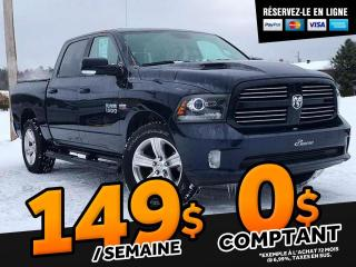 Used 2017 RAM 1500 SPORT CREW CAB    ''CAISSE 5.7'' for sale in St-Malachie, QC
