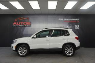 Used 2017 Volkswagen Tiguan 4MOTION WOLFSBURG ÉDITION CUIR CAMERA 70 461 KM !! for sale in Lévis, QC