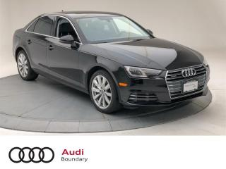 Used 2017 Audi A4 2.0T Komfort quattro 7sp S tronic for sale in Burnaby, BC