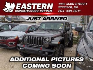 New 2021 Jeep Wrangler Rubicon | Removeable Hard & Soft Top | Blind Spot Detection | for sale in Winnipeg, MB