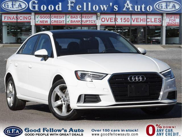 2017 Audi A3 KOMFOTR, AWD, PARKING ASSIST FRONT, LEATHER SEATS