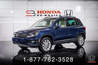 Used 2015 Volkswagen Tiguan HIGHLINE + 4MOTION + PANO + CUIR + WOW! for sale in St-Basile-le-Grand, QC