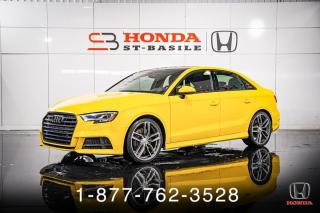 Used 2017 Audi S3 2.0T + TECHNIK + AWD + NAVI + WOW! for sale in St-Basile-le-Grand, QC