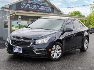 Used 2016 Chevrolet Cruze LT,REMOTE START,R/V CAM,BLUETOOTH,USB for sale in Orillia, ON