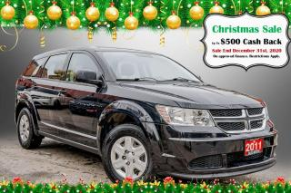 Used 2011 Dodge Journey CVP / LOW KMS / KEYLESS GO / USB INPUT for sale in Hamilton, ON