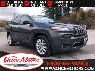 Used 2016 Jeep Cherokee Limited FWD...HTD SEATS*LEATHER*BLUETOOTH! for sale in Bancroft, ON