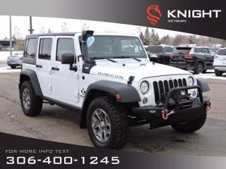Used 2015 Jeep Wrangler Unlimited Rubicon | Nav | Tow Pkg | Snorkle | Winch | Heated Seats for sale in Weyburn, SK
