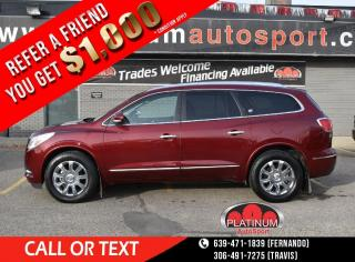Used 2016 Buick Enclave Leather 2 SUNROOFS!! 7 PASSENGER WITH BUCKET SEATS!! HEATED AND COOLED SEATS!! LOADED!! for sale in Saskatoon, SK