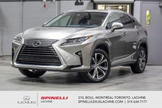 Used 2018 Lexus RX 350 LUXURY AWD; CUIR TOIT GPS ANGLES MORT MAGS 20'' NAVIGATION - SIEGES CHAUFFANT + VENTILÉ - MONITEUR ANGLES MORT - SONAR DE STATIONNEMENT - MAGS 20'' for sale in Lachine, QC
