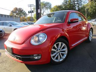Used 2013 Volkswagen Beetle Coupe TDI  6 SPEED NAVIGATION DIESEL SUNROOF ONE OWNER for sale in Burlington, ON