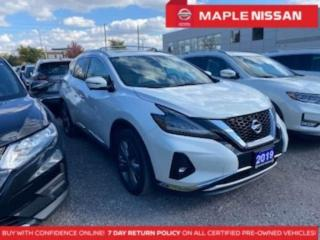 Used 2019 Nissan Murano Platinum AWD Navi Moonroof Remote Start Blind Spot for sale in Maple, ON
