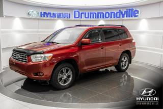 Used 2008 Toyota Highlander SR5 4WD + A/C + MAGS + CRUISE + WOW !! for sale in Drummondville, QC