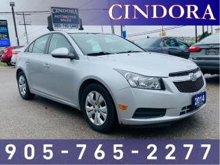 Used 2014 Chevrolet Cruze LT, Auto, Bluetooth, Sirius Radio for sale in Caledonia, ON
