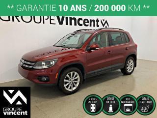 Used 2014 Volkswagen Tiguan HIGHLINE AWD CUIR TOIT PANO ** GARANTIE 10 ANS ** Un VUS qui se conduit comme une berline! for sale in Shawinigan, QC