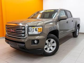 Used 2016 GMC Canyon SLE CREW 4X4 CAMÉRA RECUL GR. REMORQUAGE *BAS KM* for sale in St-Jérôme, QC