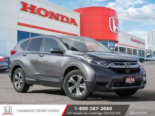 Used 2018 Honda CR-V LX REARVIEW CAMERA WITH GUIDELINES | REMOTE ENGINE STARTER | APPLE CARPLAY™ & ANDROID AUTO™ for sale in Cambridge, ON