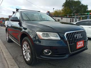 Used 2013 Audi Q5 2.0L Premium-LEATHER-SUNROOF-BLUETOOTH-AUX-ALLOYS for sale in Scarborough, ON