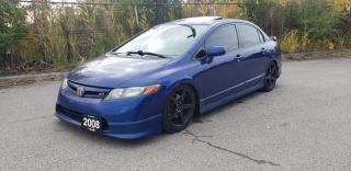 Used 2008 Honda Civic 4dr Man Si | Tein Coilovers | K-Tuned Exhaust | Type S Wheel for sale in Concord, ON
