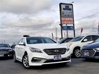 Used 2016 Hyundai Sonata 2.4L Auto Sport Tech | Pano Rood| NAV| Heated seat for sale in Brampton, ON