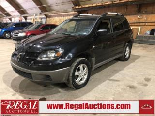 Used 2003 Mitsubishi Outlander 4D Utility AWD for sale in Calgary, AB