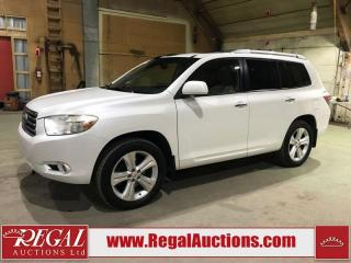 Used 2009 Toyota Highlander Limited 4D Utility V6 4WD for sale in Calgary, AB