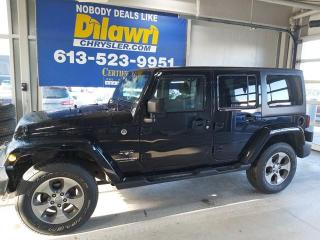 Used 2018 Jeep Wrangler JK Unlimited Sahara 4X4 | Nav, Sirius XM & Remote Starter for sale in Nepean, ON
