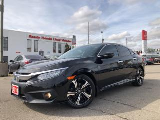 Used 2018 Honda Civic Sedan Touring  - Navi - Leather - Sunroof - Rear Camera for sale in Mississauga, ON