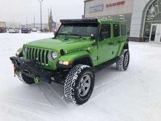Used 2018 Jeep Wrangler UNLIMITED,MOPAR LIFT, KO2'S,WINCH,NAV for sale in Slave Lake, AB