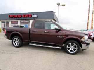 Used 2015 RAM 1500 Laramie Quad Cab 4WD Eco Diesel Camera Certified for sale in Milton, ON