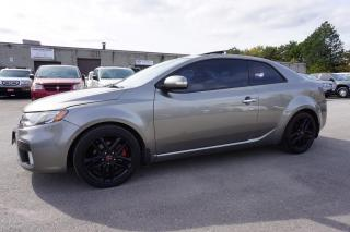 Used 2010 Kia Forte Koup SX CERTIFIED 2YR WARRANTY SUNROOF BLUETOOTH HEATED LEATHER ALLOYS for sale in Milton, ON