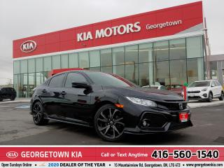 Used 2017 Honda Civic Hatchback SPORT | ROOF | B/U CAM | HTD SEATS | 64K | TINTS for sale in Georgetown, ON