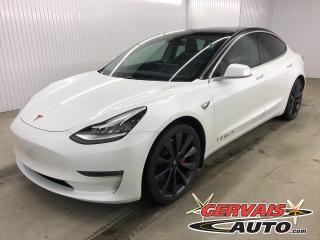 Used 2020 Tesla Model 3 Performance AWD Autopilot Comme neuve ! for sale in Shawinigan, QC