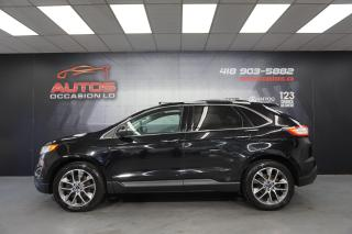Used 2016 Ford Edge TITANIUM AWD CUIR TOIT PANO PGS NAV CAMERA 99 281 for sale in Lévis, QC