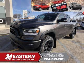 New 2021 RAM 1500 Rebel | Pano Sunroof | Fwd. Collision Wrn. w/ Brk. | 0% Fin. | for sale in Winnipeg, MB