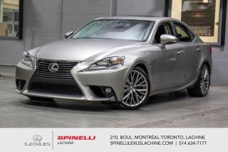 Used 2016 Lexus IS 300 LUXURY AWD; CUIR TOIT GPS ANGLES MORT MAGS NAVIGATION - TOIT-OUVRANT - MONITEUR ANGLES MORT - VOLANT CHAUFFANT - SONAR DE STATIONNEMENT for sale in Lachine, QC
