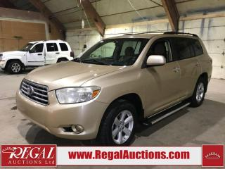 Used 2008 Toyota Highlander 4D Utility V6 4WD for sale in Calgary, AB