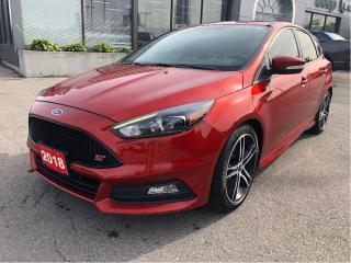 Used 2018 Ford Focus ST ST 252HP Turbo 4 Cylinder w/6-Speed, Recaros, Navi for sale in Hamilton, ON