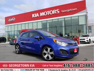 Used 2013 Kia Rio SX | ONE OWNER | LTHR | ROOF | B/U CAM | 132,565K for sale in Georgetown, ON
