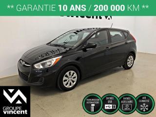 Used 2016 Hyundai Accent LE CLIMATISEUR ** GARANTIE 10 ANS ** Véhicule fiable économique et pratique! for sale in Shawinigan, QC
