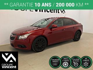 Used 2012 Chevrolet Cruze ECO ** GARANTIE 10 ANS ** À bas kilométrage et abordable! for sale in Shawinigan, QC