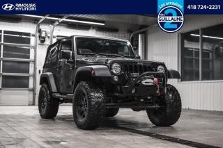 Used 2017 Jeep Wrangler 4WD Willys chez Rimouski Hyundai for sale in Rimouski, QC