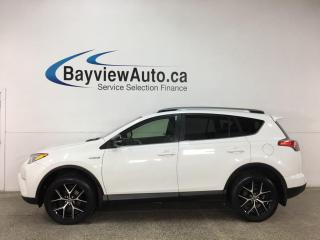 Used 2017 Toyota RAV4 Hybrid SE - AWD! HTD LEATHER! ROOF! NAV! LOADED! for sale in Belleville, ON