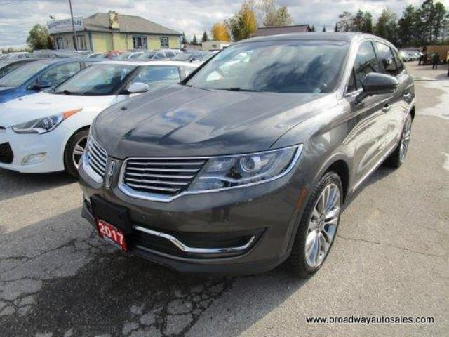 2017 Lincoln MKX ALL-WHEEL DRIVE RESERVE EDITION 5 PASSENGER 2.7L - TURBO.. NAVIGATION.. LEATHER.. HEATED/AC SEATS.. PANORAMIC SUNROOF.. BACK-UP CAMERA.. BLUETOOTH..