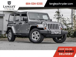 Used 2013 Jeep Wrangler Unlimited SAHARA  Accident Free/ Local/ Heated Seats/ Nav for sale in Surrey, BC