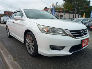 Used 2013 Honda Accord TOURING-ECO-NAVI-BK UPCAM-LEATHER-SUNROOF-AUX-USB for sale in Scarborough, ON
