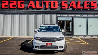 Used 2019 Dodge Durango GT|ACCIDENT FREE|BACKUP CAM|SUNROOF for sale in Brampton, ON