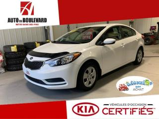 Used 2014 Kia Forte LX M6 BAS KILO 42 000KM 8XPNEUS for sale in Notre-Dame-des-Pins, QC